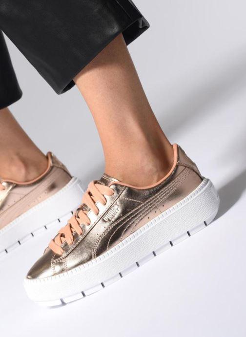 Sneakers Puma Platform Trace Cop Rosa immagine dal basso
