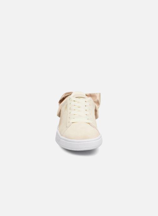 Baskets Puma Basket Bow Varsity Or et bronze vue portées chaussures
