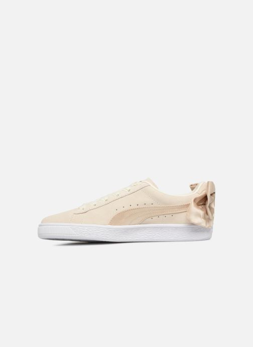 Sneakers Puma Basket Bow Varsity Oro e bronzo immagine frontale