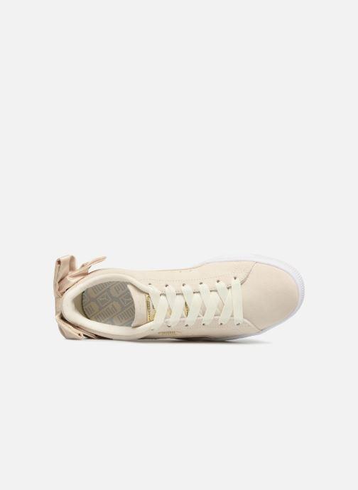 Sneakers Puma Basket Bow Varsity Guld og bronze se fra venstre