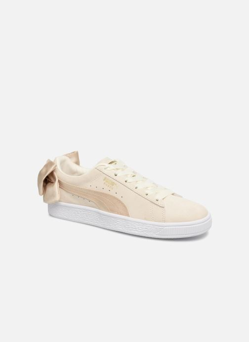 Sneakers Puma Basket Bow Varsity Guld og bronze detaljeret billede af skoene