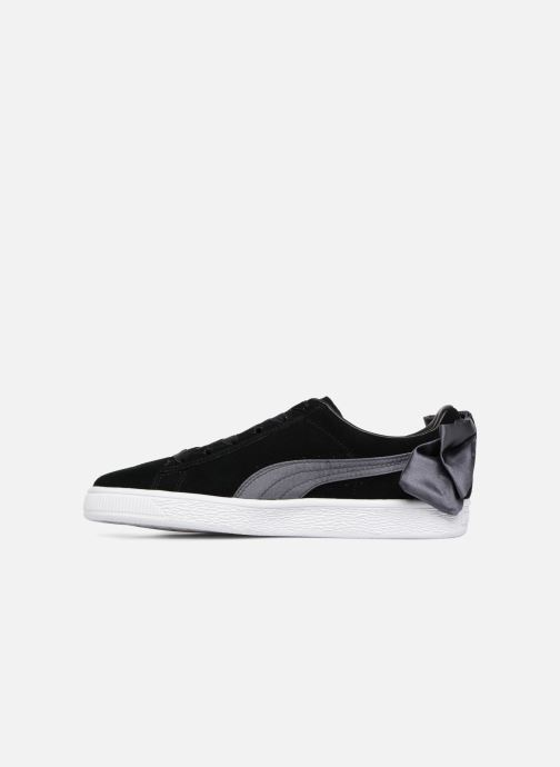 Sneakers Puma Basket Bow Satin Zwart voorkant
