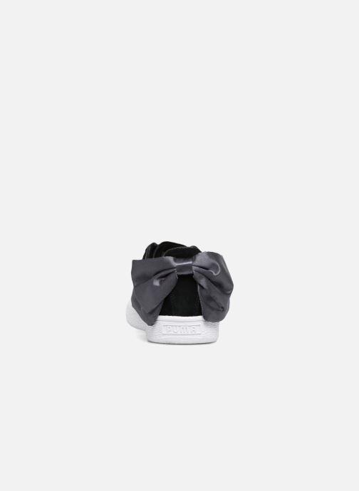 Sneakers Puma Basket Bow Satin Nero immagine destra