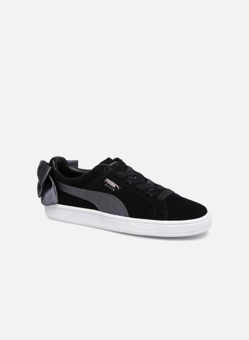 Sneakers Puma Basket Bow Satin Zwart detail