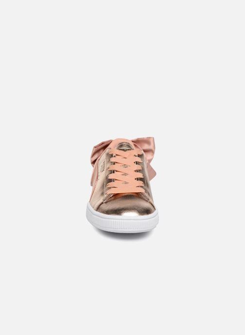 Baskets Puma Basket Bow Lux Rose vue portées chaussures
