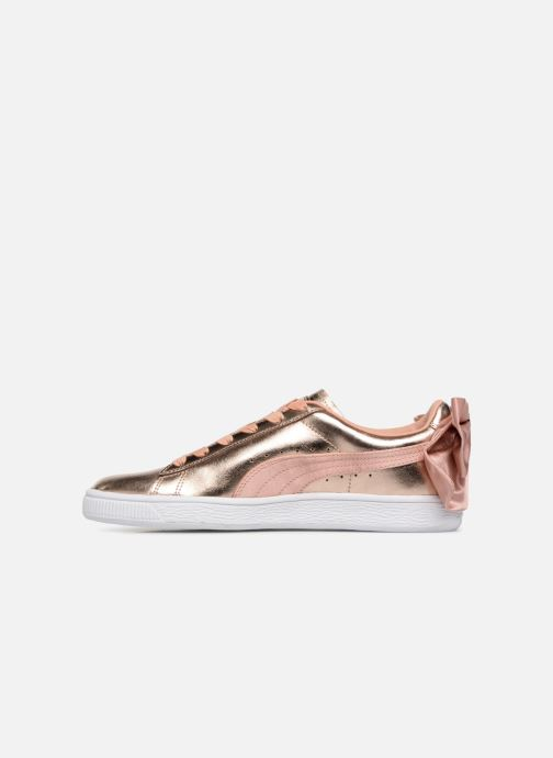 Baskets Puma Basket Bow Lux Rose vue face