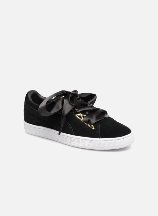 Baskets Puma Suede Jewel Metallic Noir vue 3/4