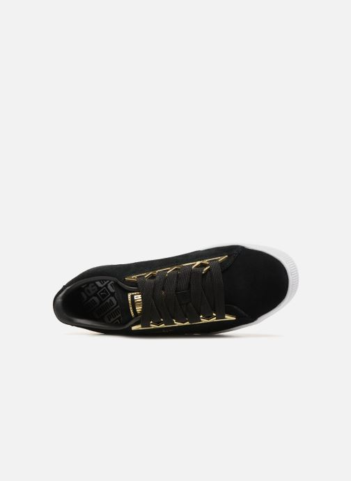 Baskets Puma Suede Jewel Metallic Noir vue gauche