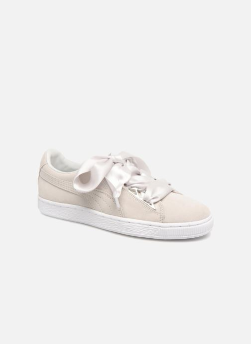 Baskets Puma Suede Jewel Metallic Gris vue 3/4