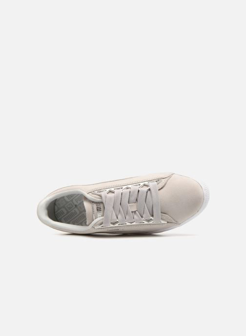 Baskets Puma Suede Jewel Metallic Gris vue gauche
