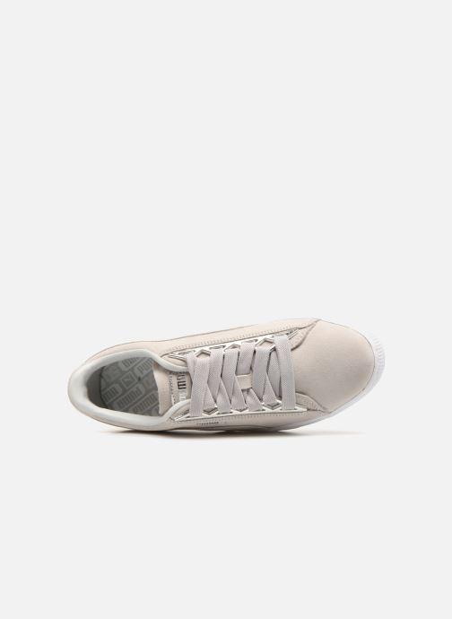 Sneakers Puma Suede Jewel Metallic Grigio immagine sinistra