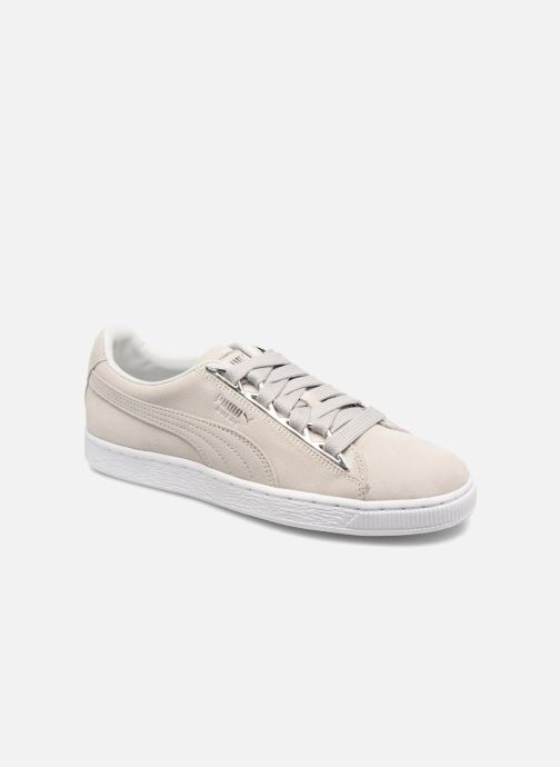 Baskets Puma Suede Jewel Metallic Gris vue détail/paire