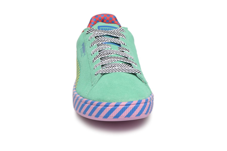 Baskets Puma Suede Classic Pop Culture Vert vue portées chaussures