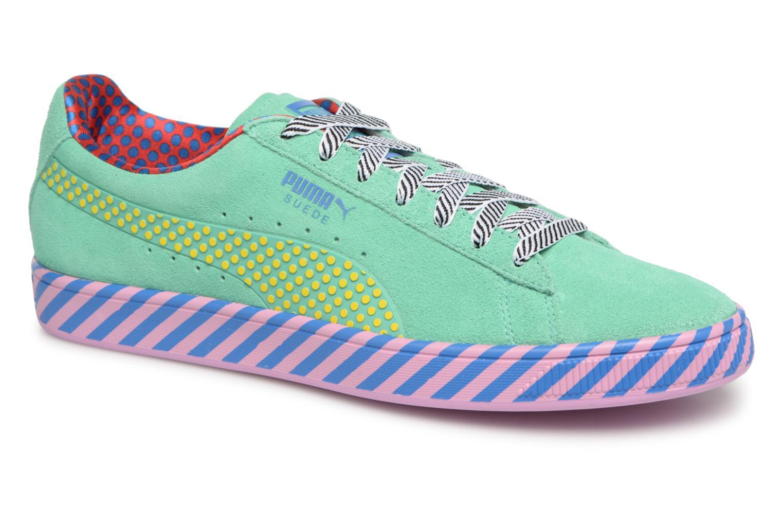 Baskets Puma Suede Classic Pop Culture Vert vue détail/paire