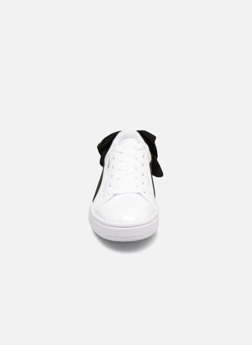 Baskets Puma Basket Bow Sb Wns Blanc vue portées chaussures