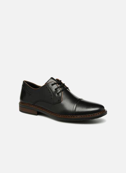 Lace-up shoes Rieker Aurelien 17617 Black detailed view/ Pair view