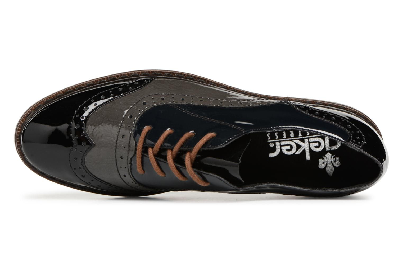 Chaussures à lacets Rieker Anaelle 50603 Noir vue gauche
