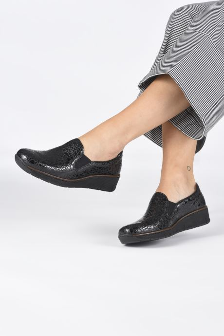 Loafers Rieker Astrid 53766 Black view from underneath / model view
