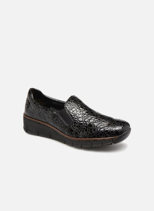 Loafers Rieker Astrid 53766 Black detailed view/ Pair view