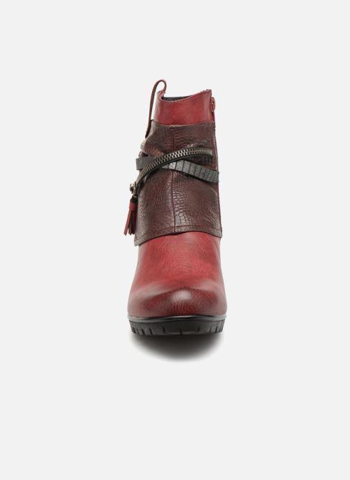 Bottines et boots Rieker Bethanie 98589 Bordeaux vue portées chaussures