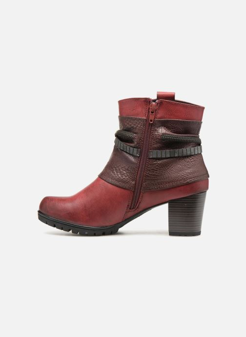 Bottines et boots Rieker Bethanie 98589 Bordeaux vue face
