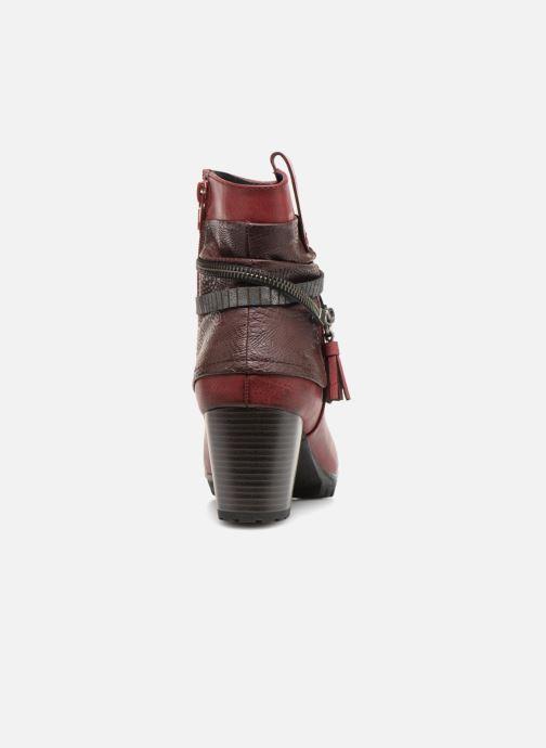 Bottines et boots Rieker Bethanie 98589 Bordeaux vue droite
