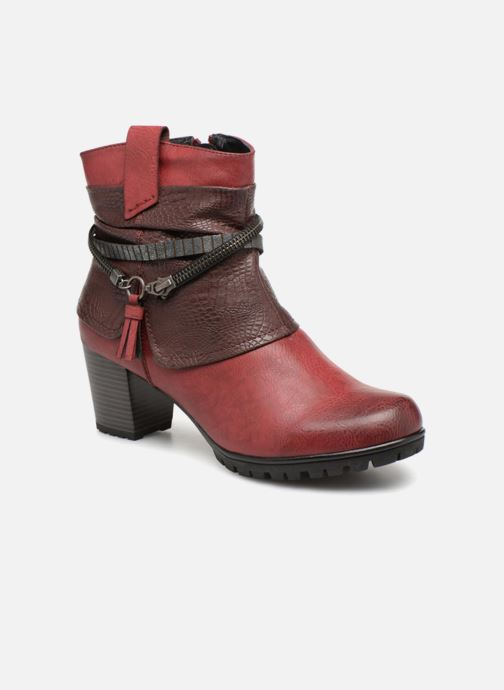 Bottines et boots Rieker Bethanie 98589 Bordeaux vue détail/paire