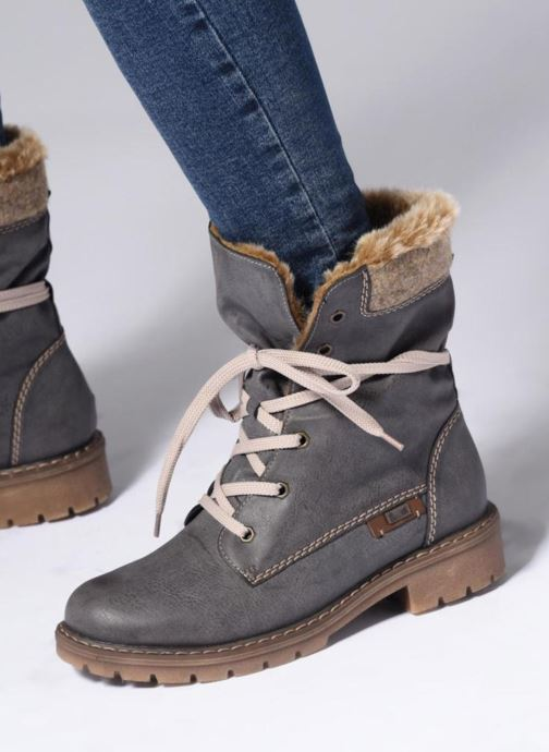 Ankle boots Rieker Gladisse Y9122 Grey view from underneath / model view