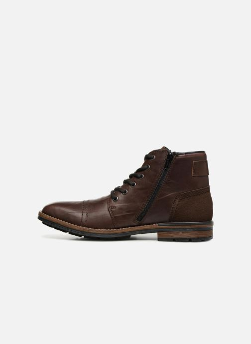 Ankle boots Rieker Edgard F1340 Brown front view