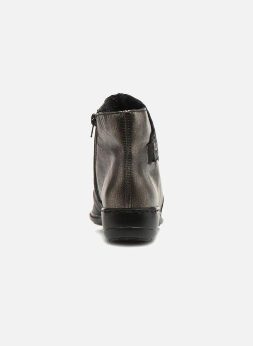 Boots en enkellaarsjes Rieker Davia 78381 Zwart rechts
