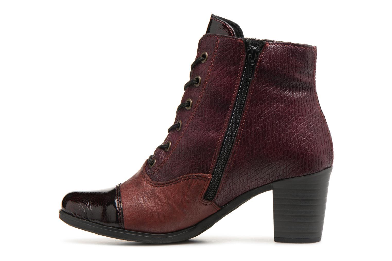 Bottines et boots Rieker Enora Y8938 Bordeaux vue face