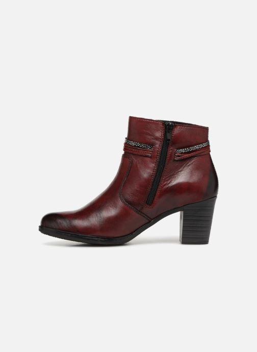 Bottines et boots Rieker Frida Y8999 Bordeaux vue face