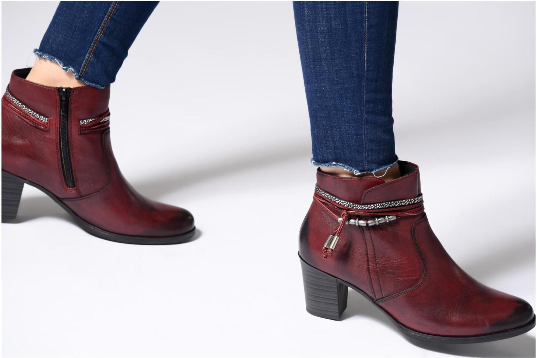 Bottines et boots Rieker Frida Y8999 Bordeaux vue bas / vue portée sac