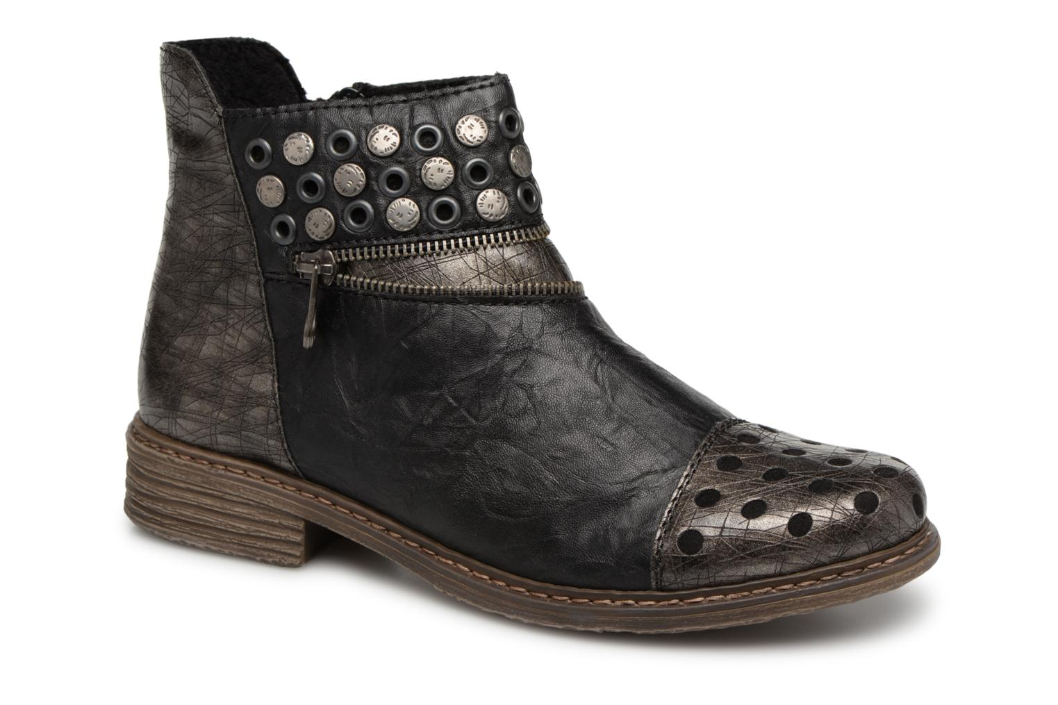 Ankle boots Rieker Ilona Z2163 Grey detailed view/ Pair view