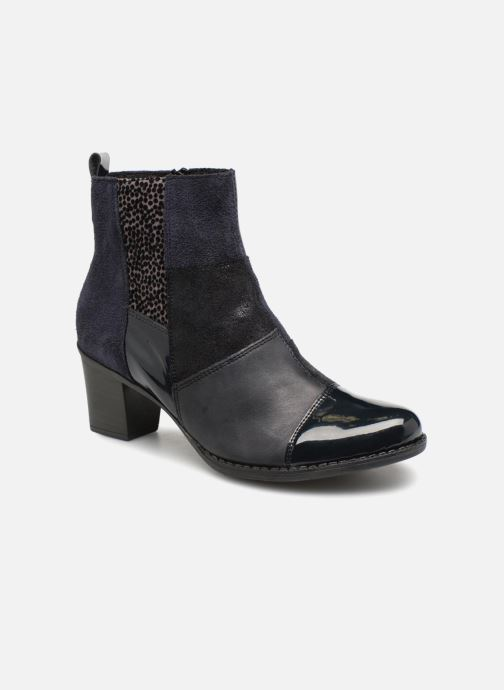 Ankle boots Rieker Inaya Z7686 Blue detailed view/ Pair view