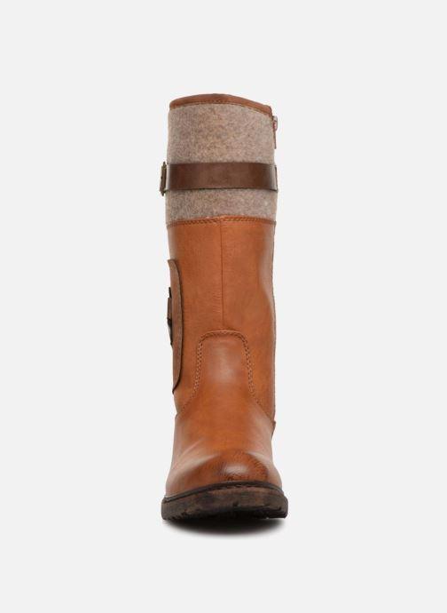 Bottes Rieker Alyson 94761 Marron vue portées chaussures