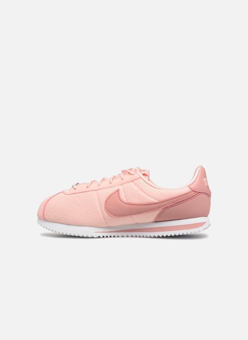 Deportivas Nike Cortez Basic Txt Se (GS) Rosa vista de frente