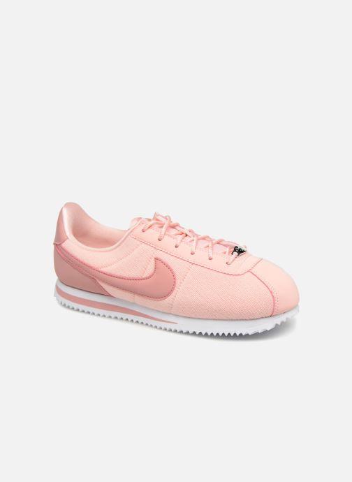 Deportivas Nike Cortez Basic Txt Se (GS) Rosa vista de detalle / par