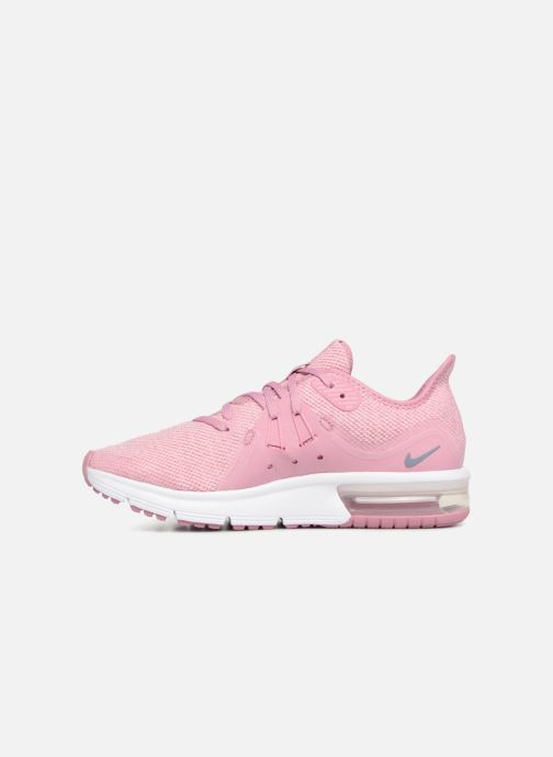 Baskets Nike Air Max Sequent 3 (GS) Rose vue face