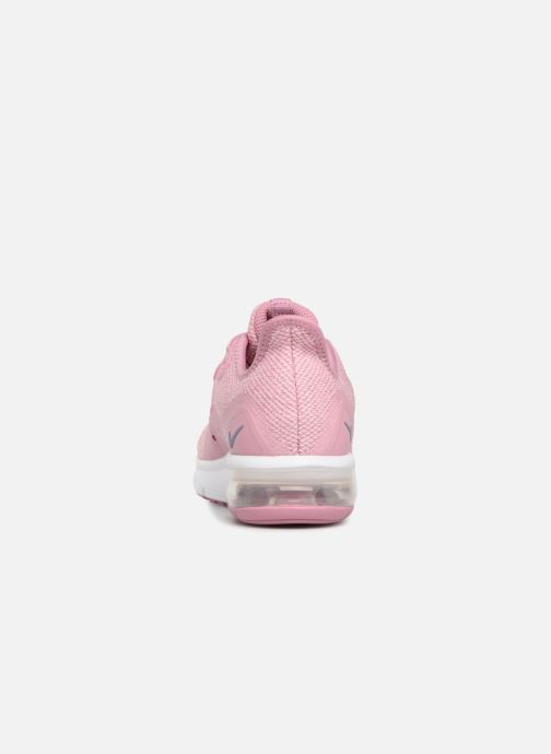 Baskets Nike Air Max Sequent 3 (GS) Rose vue droite