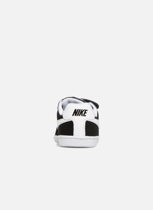 Deportivas Nike Court Royale (TD) Negro vista lateral derecha