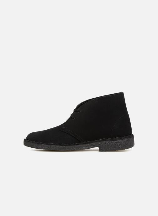 Botines  Clarks Originals Desert Boot Negro vista de frente