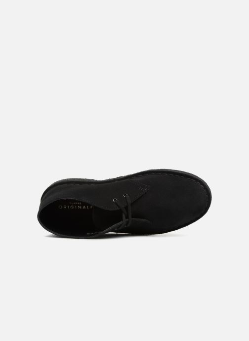 Ankle boots Clarks Originals Desert Boot Black view from the left