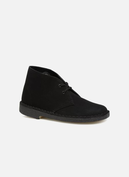 Ankle boots Clarks Originals Desert Boot Black detailed view/ Pair view
