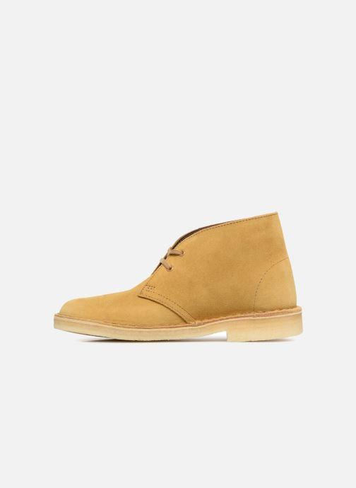 Botines  Clarks Originals Desert Boot Amarillo vista de frente