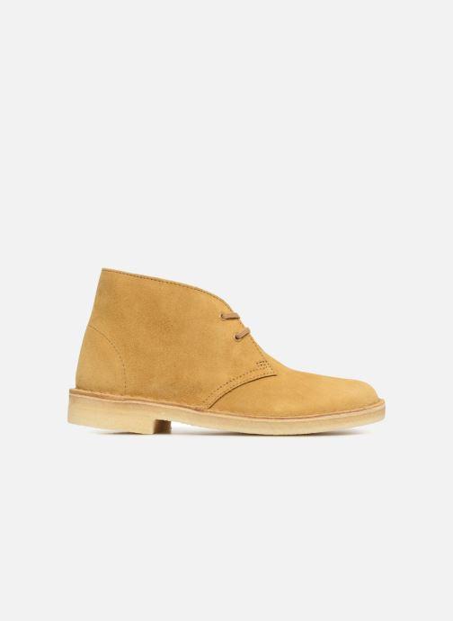 Botines  Clarks Originals Desert Boot Amarillo vistra trasera