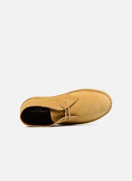 Botines  Clarks Originals Desert Boot Amarillo vista lateral izquierda