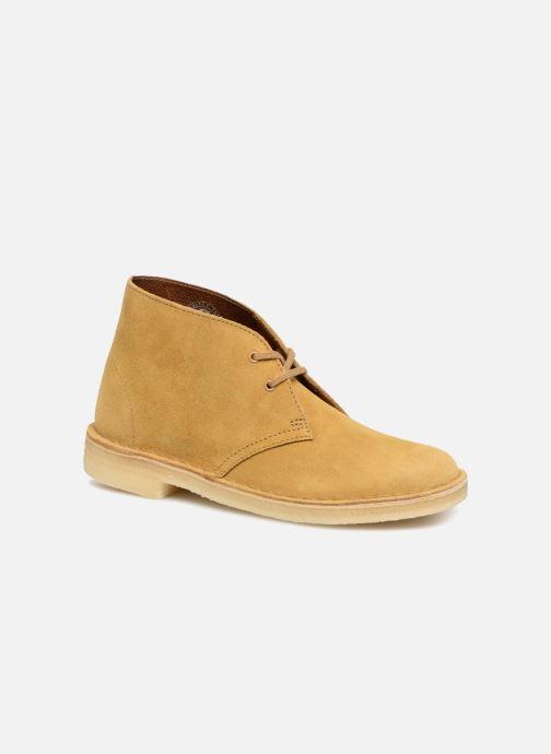 Bottines et boots Clarks Originals Desert Boot Jaune vue détail/paire