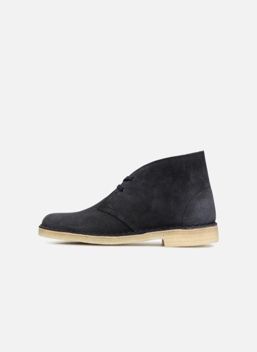 Bottines et boots Clarks Originals Desert Boot Bleu vue face