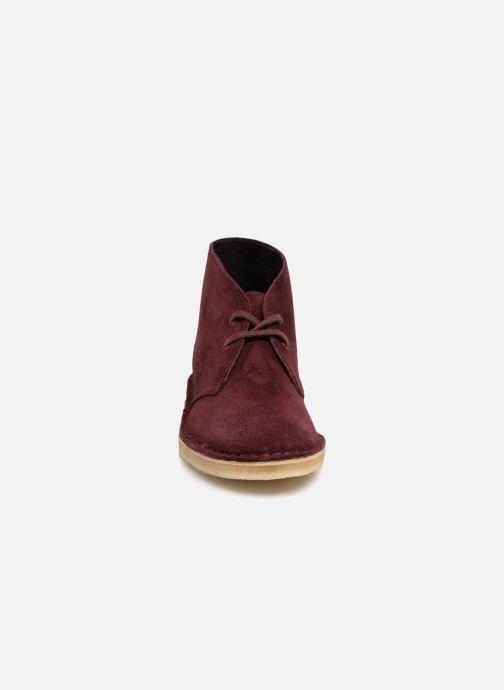 Bottines et boots Clarks Originals Desert Boot Bordeaux vue portées chaussures